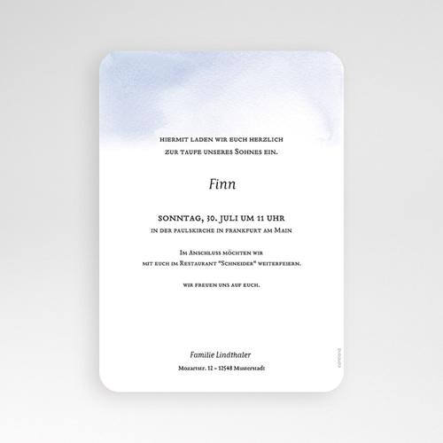 Einladungskarten Taufe Jungen  - Prinz 72372 thumb