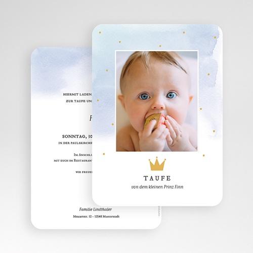 Einladungskarten Taufe Jungen  - Prinz 72373 thumb