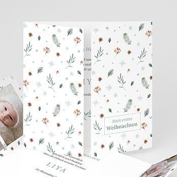 Geburtskarten für Mädchen Sweet Winter