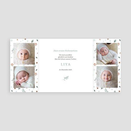 Geburtskarten Sweet Winter pas cher