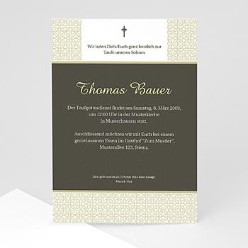 Einladungskarten Taufe Mädchen - Taufe Einladungskarte traditionell - 1