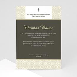 Taufe Einladungskarte traditionell - 1