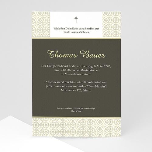 Einladungskarten Taufe Mädchen - Traditionell 7239 test