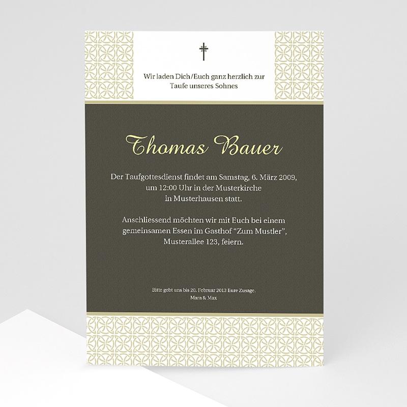 Einladungskarten Taufe für Mädchen Traditionell