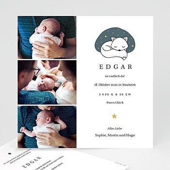 Foto-Babykarten gestalten - Cute Fox - 0