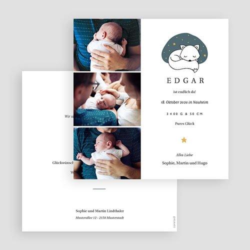 Geburtskarten mit Fuchs Cute Fox gratuit