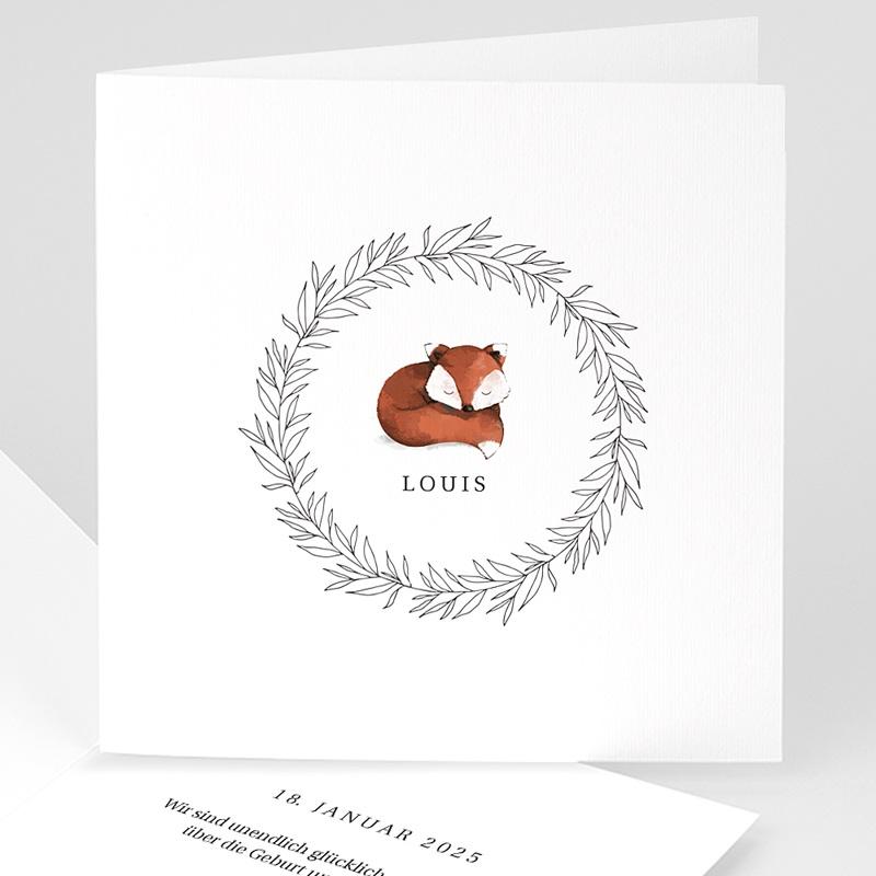 Geburtskarten Rotfuchs