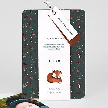 Geburtskarten mit Tiermotiven - Roter Fuchs - 0