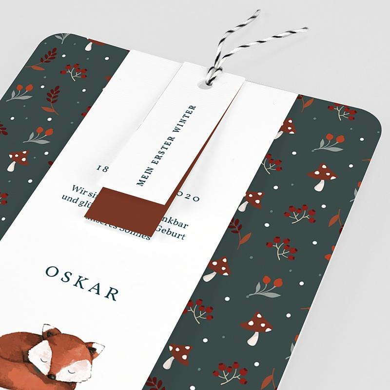 Geburtskarten mit Fuchs Roter Fuchs pas cher