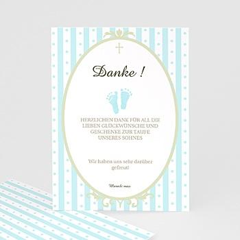 Dankeskarten Taufe Jungen Ornament