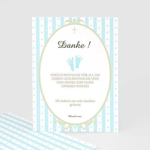 Dankeskarten Taufe Jungen - Ornament 7247
