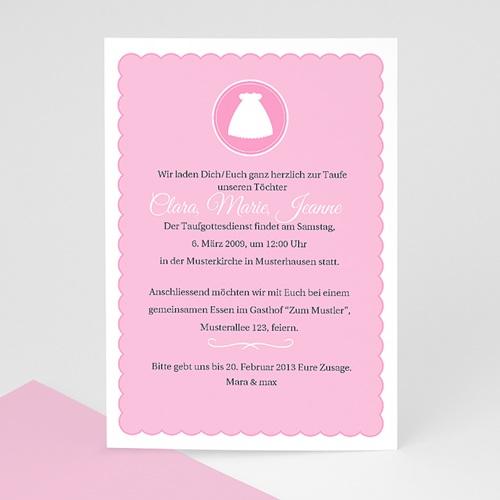 Einladungskarten Taufe Mädchen - Kreuz 7251