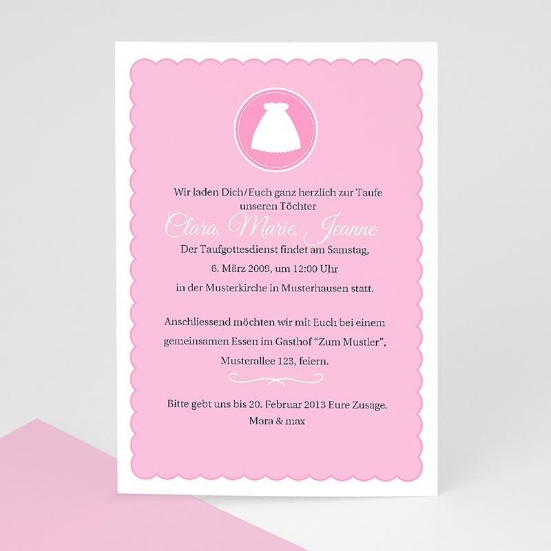 Einladungskarten Taufe Mädchen - Kreuz 7251 thumb