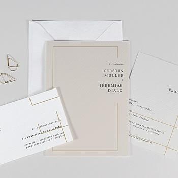 Hochzeitseinladungen Schlicht - Golden Frame - 0