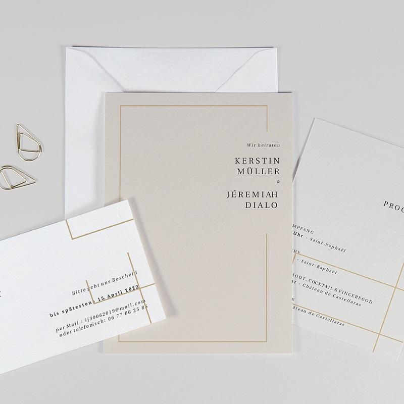 Einladungskarten Hochzeit  Golden Frame