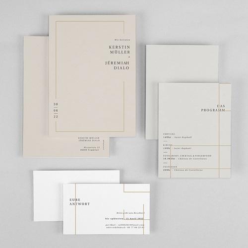 Einladungskarten Hochzeit  Golden Frame gratuit