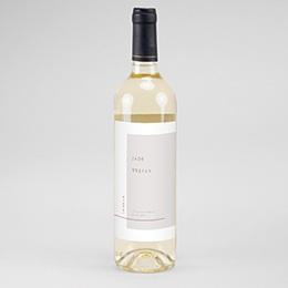 Flaschenetiketten Wein Terracotta