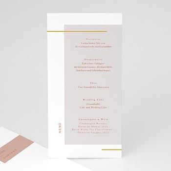 Menükarten Hochzeit - Terracotta - 0
