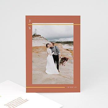 Dankeskarten Hochzeit Boho - Terracotta - 0