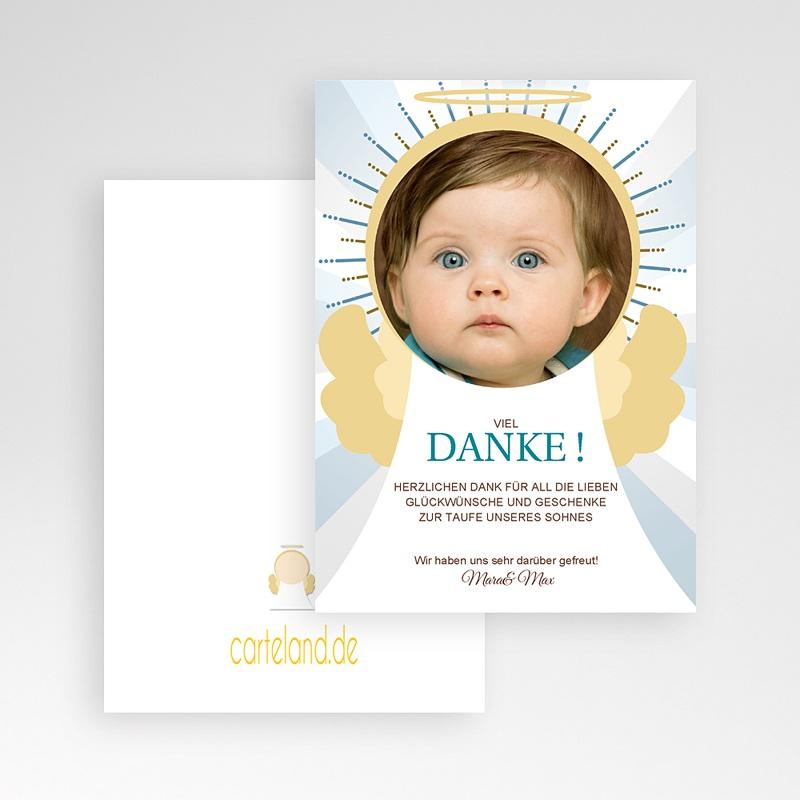 Dankeskarten Taufe Jungen Engel pas cher