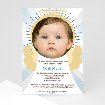 Einladungskarten Taufe Jungen  - Taufe Engel - 1