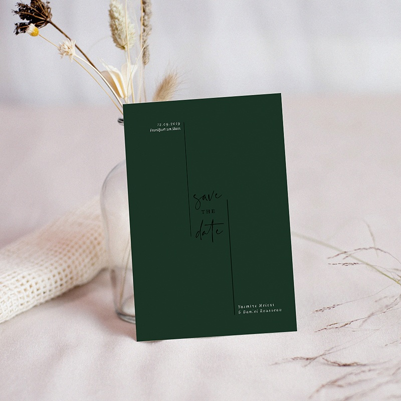 Save The Date Karten Hochzeit Eukalyptus