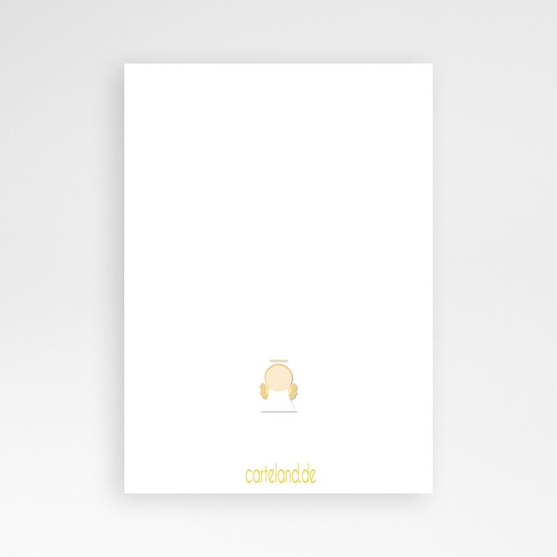 Einladungskarten Taufe für Jungen Engel pas cher