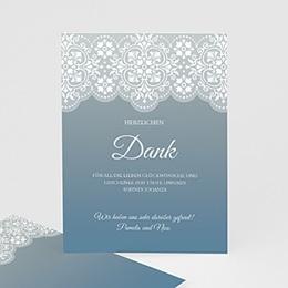 Taufe Einladungskarte blau - 1