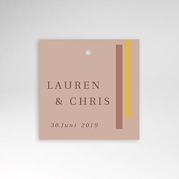 Anhänger Hochzeit - Blush & Gold - 0