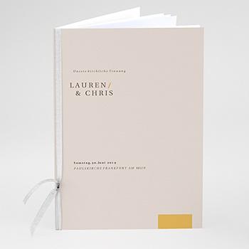 Kirchenheft zur Hochzeit individuell gestalten - Blush & Gold - 0