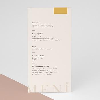 Menükarten Hochzeit - Blush & Gold - 0