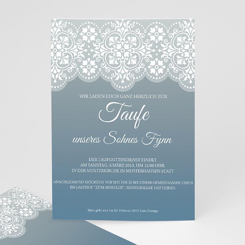 Einladungskarten Taufe Jungen  - Blau 7275 thumb