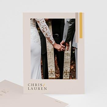 Stilvolle Danksagung Hochzeit Blush & Gold