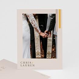 Danksagungskarten Hochzeit Blush & Gold