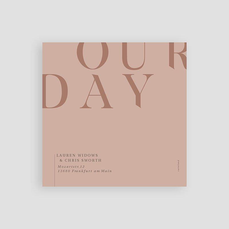Save The Date Karten Hochzeit Blush & Gold, D-day, 10 x 10 pas cher
