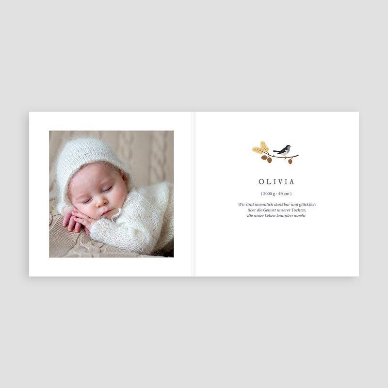 Geburtskarten mit Vogel Herbstoutfit pas cher