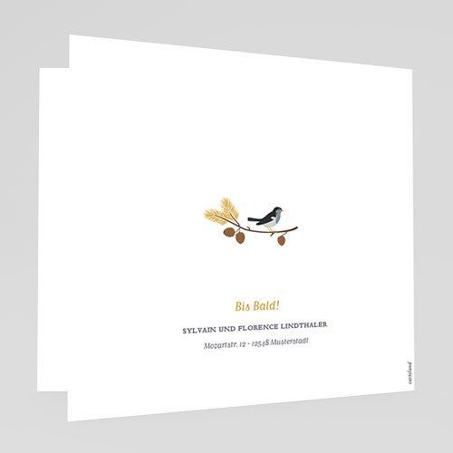 Geburtskarten mit Vogel Herbstoutfit gratuit