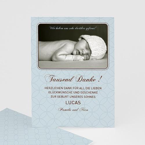 Dankeskarten Taufe Jungen - Danksagung Taufe Baby 7279