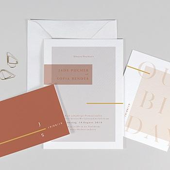 Einladungskarten Hochzeit  - Terracotta - 0