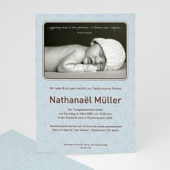 Einladungskarten Taufe Jungen  - Taufe baby - 1
