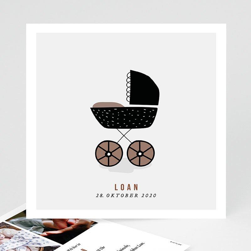 Vintage Geburtskarten Retro Kinderwagen