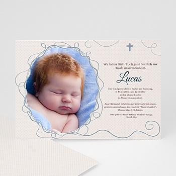Einladungskarten Taufe Jungen  - Taufe Weiss - 1