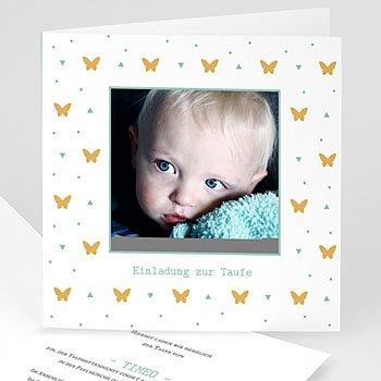 Taufkarten Schmetterling - Gelbe Schmetterlinge - 0
