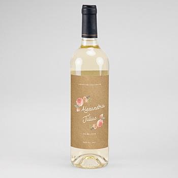 Flaschenetiketten Wein - Florale Krone - 0