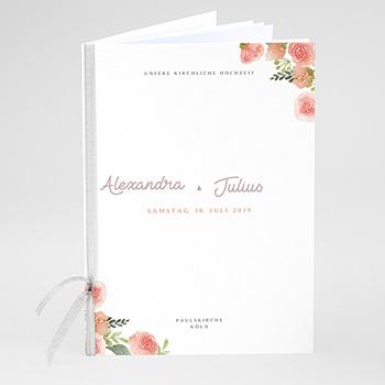 Kirchenheft zur Hochzeit individuell gestalten Florale Krone