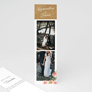 Dankeskarten Hochzeit Landhochzeit - Florale Krone - 0