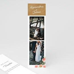 Danksagungskarten Hochzeit Florale Krone