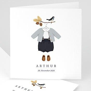 Klassische Geburtskarten online gestalten - Herbststimmung - 0