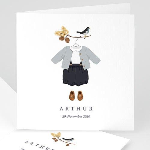 Klassische Geburtskarten Herbststimmung