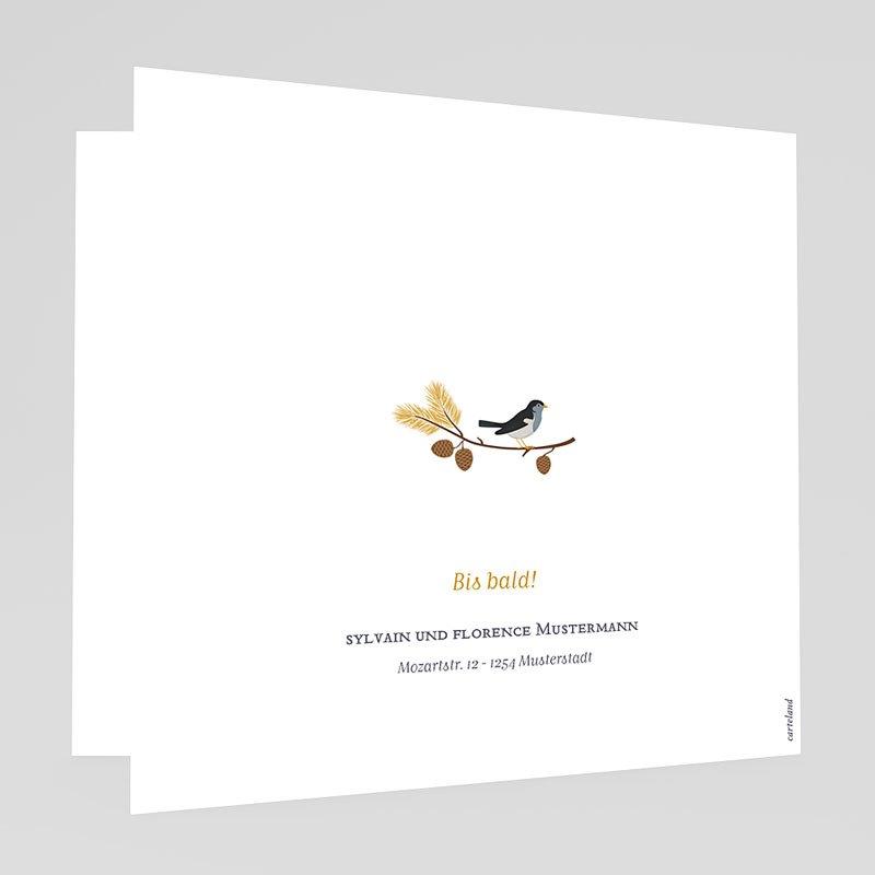 Klassische Geburtskarten Herbststimmung gratuit